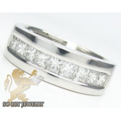 1.50ct 14k White Gold princess Diamond Wedding Band