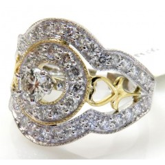 14k Solid Two Tone Heart ...