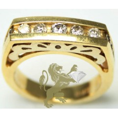 0.90ct Ladies 14k Solid Y...