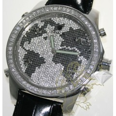 10.00ct Mens Rayalty Genuine Diamond Watch diamond World