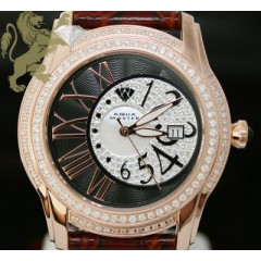 1.70ct Mens Aqua Master Genuine Diamond Watch rose Twilight W/ Black & White Dial