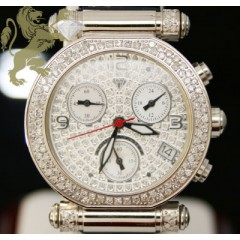 0.85ct Ladies Aqua Master Genuine Diamond Watch white Diamond Cut Dial