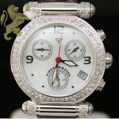 0.85ct ladies aqua master genuine diamond watch