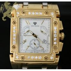 4.00ct Mens Aqua Master Genuine Diamond two Tone General Watch