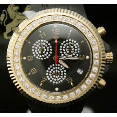 2.85ct Mens Aqua Master Genuine Diamond Watch