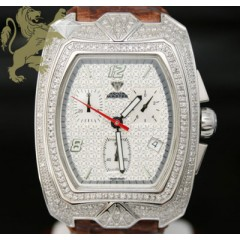 2.50ct Aqua Master Genuine Diamond Watch white Aqua Diamond W/ Hand Made Band