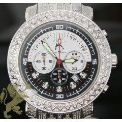 2.50ct Mens Techno Master Genuine Diamond Watch zig Zag Bezel