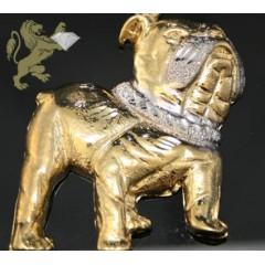 10k Solid Yellow Gold diamond Cut Bulldog Pendant