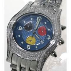2.50ct Mens Techno Master Genuine Diamond Watch exotic