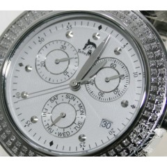 1.00ct Unisex Techno Master Genuine Diamond Watch white Luxor