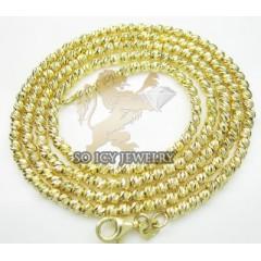 14k Yellow Gold Diamond Cut ball Chain 16-30 Inch 2.5mm