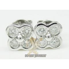 0.40ct 14k White Gold Round 4 Diamond Studs