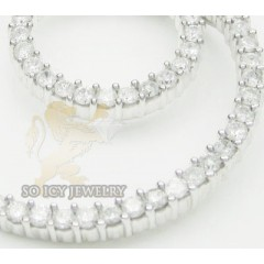 2.00ct 14k White Gold diamond Eternity Necklace Pendant