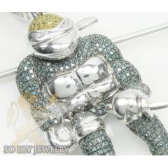 3.50ct 10k White Gold Color Diamond ninja Turtle Pendant