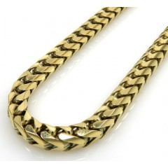 14k Yellow Gold Solid Franco Link Chain 24-36 Inch 4mm