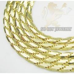 14k Yellow Gold Fancy Italian Link Chain 3mm 16-20 Inch