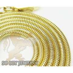 14k Yellow Gold Italian Snake Chain 2.5mm 16-18 Inch