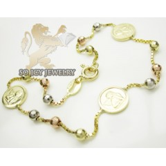 14k Tri Color Gold Angel ...