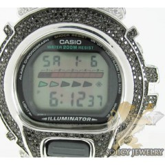 Mens Diamond Black G-shock Watch 4.00ct