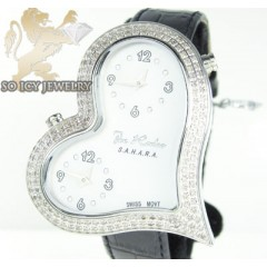 Ladies joe rodeo diamond watch white sahara heart 1.40ct