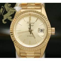 Ladies Pure 18k Solid Yellow Gold gerard Petit Watch