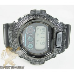 Mens Diamond Black G-shock Watch 0.15ct