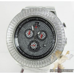 Mens Techno Master Diamond 4 Row Jumbo Bezel Watch 4.00ct