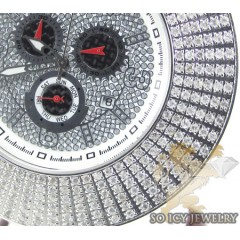 Mens Techno Master Diamond 6 Row Jumbo Bezel Watch 6.00ct