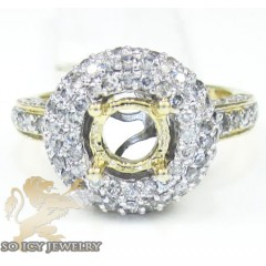 14k Yellow Gold Round Dia...