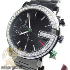 Diamond Gucci G Watch Bla...