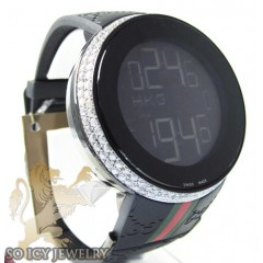 White Diamond Igucci Digital Watch 2.60ct