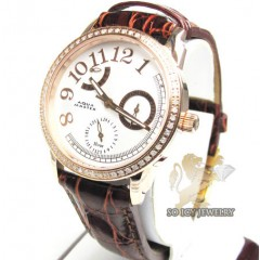 Ladies diamond aqua master watch rose steel 0.50ct