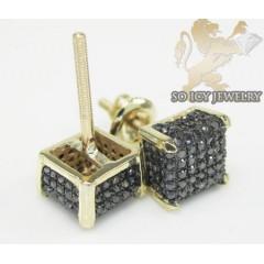 14k Yellow Gold diamond 3-d Ice Cubes Earrings 0.60ct