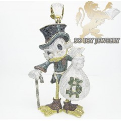 Scrooge Mcduck Diamond 10k Yellow Gold Pendant 16.50ct