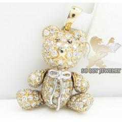 Teddy Bear Diamond 14k Rose Gold Pendant 1.90ct