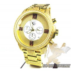 Techno Com Kc Diamond Yellow Fully Iced Out Watch 8.00ct