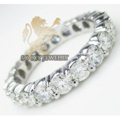 Ladies 14k White Gold Round Diamond Eternity Band 4.00ct