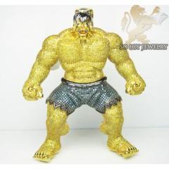 Canary Hulk Diamond 10k Yellow Gold Pendant 11.00ct