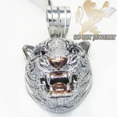 Tiger Diamond 10k White Gold Pendant 2.25ct