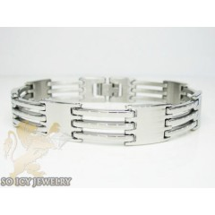 White Stainless Steel Multi-link Design Bracelet