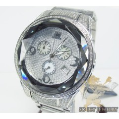 Diamond Icelink Midnight Sun Mens Watch 4.25ct