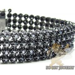 14k Black Gold Diamond 4 ...
