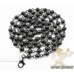 10k Black Gold Bead & Ball Chain 33 Inch 6.2mm
