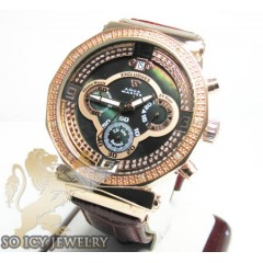 Womens Aqua Master Genuine Diamond Rose Exclusive Watch 0.20ct
