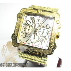 Mens Aqua Master Genuine Diamond Yellow Box Watch 0.20ct