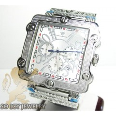 Mens Aqua Master Genuine Diamond Box Watch 0.20ct