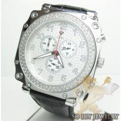 Mens Aqua Master Genuine Diamond Sqaure Watch 1.25ct