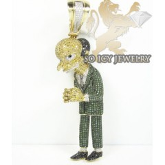10k Yellow Gold Diamond Cartoon Pendant 8.00ct