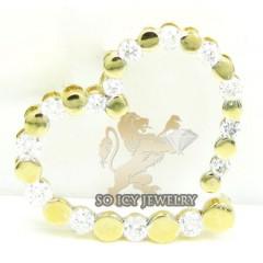 Ladies 14k Yellow Gold Diamond Heart Pendant 0.65ct