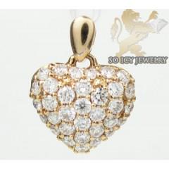 Ladies 18k Rose Gold Diamond Mini Heart Pendant 0.43ct